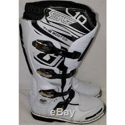 Gaerne SG-10 Dirt MX ATV SxS Offroad Motocross Boots White Size 10 US / 44.5 EU