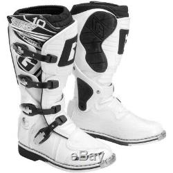 Gaerne SG-10 Dirt MX ATV SxS Offroad Motocross Boots White Size 14 US / 49 EU