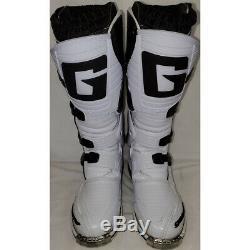 Gaerne SG-10 Dirt MX ATV SxS Offroad Motocross Boots White Size 8 US / 42 EU