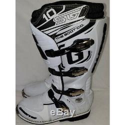 Gaerne SG-10 Dirt MX ATV SxS Offroad Motocross Boots White Size 9 US / 43 EU