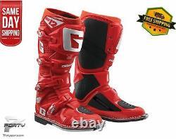 Gaerne SG-12 Boots Solid Red MX Motocross Off Road Dirt Bike ATV/UTV
