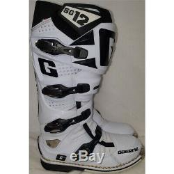 Gaerne SG-12 Dirt MX ATV SxS Offroad Motocross Boots White Size 11 US / 46 EU