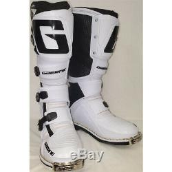 Gaerne SG-12 Dirt MX ATV SxS Offroad Motocross Boots White Size 14 US / 49 EU