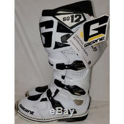 Gaerne SG-12 Dirt MX ATV SxS Offroad Motocross Boots White Size 9 US / 43 EU