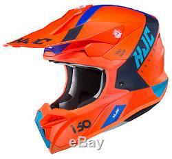 HJC i50 Erased Motocross ATV Dirt Helmet SEMI FLAT ORANGE