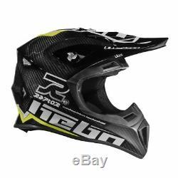 Hebo Enduro Raptor Carbon Motocross Helmet XS Green ATV FMX Quad Dirt Bike MX