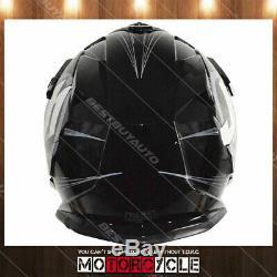 J32 ATV Motorcycle Off Road Motocross Dirt Bike Helmet Gloss Black Raptor L DOT