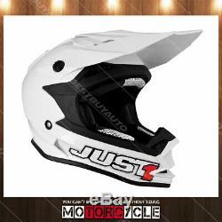 J32 Motorcycle ATV Off Road Motocross MX Dirt Bike Helmet Gloss White XS DOT