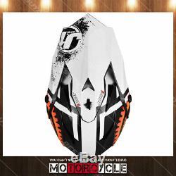 J32 Off Road ATV Dirt Bike Motocross MX Helmet Gloss Orange Agent Orange XL