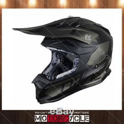 J32 Pro Adult Off Road Motocross Dirt Bike Helmet ATV Flat Black Kick Titanium L