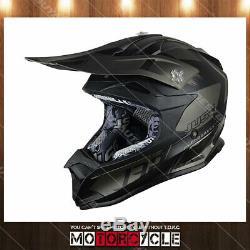 J32 Pro Adult Off Road Motocross Dirt Bike Helmet ATV Flat Black Kick Titanium M