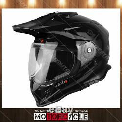J34 Adult ATV Sport Off Road Motocross MX Dirt Bike Helmet Gloss Black S DOT