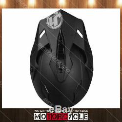 J34 Adult Sport ATV Off Road Snowmobile Motocross Dirt Bike Helmet Flat Black S