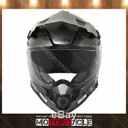 J34 Pro Adult ATV Off Road Motocross MX Dirt Bike Helmet Flat Black Titanium L