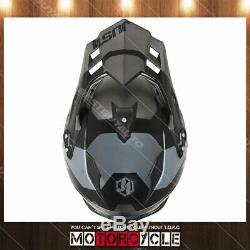 J34 Pro Adult ATV Off Road Motocross MX Dirt Bike Helmet Flat Black Titanium S