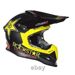 Just 1 MX Motocross Carbon Rockstar Helmet MEDIUM Matt Black Off Road Dirt Bike
