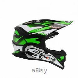 KSAL0006 Suomy Alpha Motocross Helmet L Green MX ATV Quad Off-Road Dirt Bike