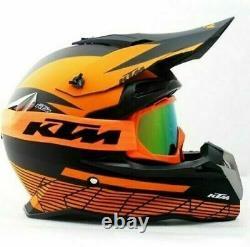 KTM Helmet Sport Adults Motocross Racing Orange Black Dirt Bike ATV off Road MX