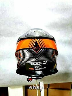 KTM Motocross Helmet power wear Orange Black Dirt bike ATV Off Road MX Helmets