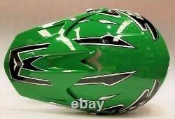 Kids Dirt Bike Helmet Green, with goggles, Youth Sizes, motocross, quad, ATV