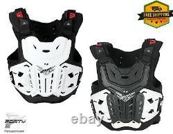 LEATT 4.5 Chest Protector MX Motocross Off Road Dirt Bike ATV/UTV Black / White