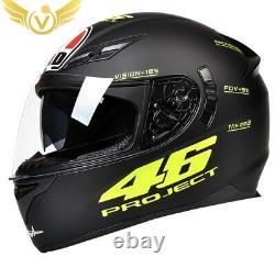 LED Offroad DOT Motocross Helmet Dirt Bike MX ATV Snowmobile Full Face Sport