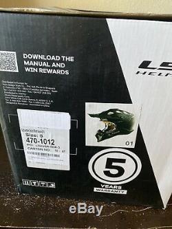 LS2 Subverter Motocross Helmet White Large Off-Road ATV Dirt Bike MX Motorcycle