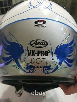 Leatt Adventure Neck Brace Motocross Dirt Bike Size M with arai helmet vxpro3