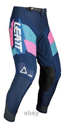 Leatt Moto 4.5 Kit Combo Blue/Pink MX Motocross Off Road Dirt Bike ATV/UTV