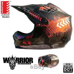 Motocross Dirt Bike Helmet, ATV, Kids, Child, Youth S to XL, Grey, Neon Range