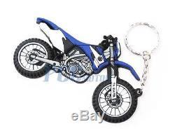 Motocross Dirt Bike Rubber Key Chain Keychain Yamaha WR TTR ATV Dirt Bike V KC04