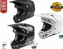 NEW 2021 Fly Racing FORMULA CARBON SOLID HELMET MX Off Road Dirt Bike ATV/UTV