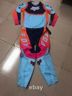 NEW 2021 Fox Racing 360 Voke Off Road MX Gear Set Blue Motocross ATV Dirt Bike
