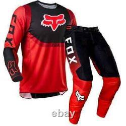 NEW 2021 Fox Racing 360 Voke Off Road MX Gear Set RED Motocross ATV Dirt Bike X