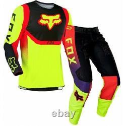 NEW 2021 Fox Racing 360 Voke Off Road MX Gear Set YELLO Motocross ATV Dirt Bike
