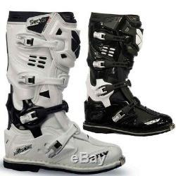 NEW FLY Adult Mens Sector ATV Motocross Dirt Bike Riding Boots White Black 7 8 9