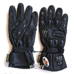 NEW Motorcycle Motocross MX ATV Dirt Bike Racing Long Leather Gloves Black