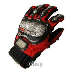 NEW Motorcycle Motocross MX ATV Dirt Bike Racing Textile Gloves Red M L XL SIZE