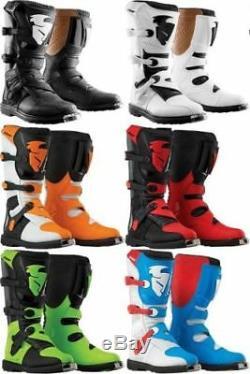 New 2018 Thor Blitz Boots Dirt Bike Motocross Atv MX All Colors & Sizes