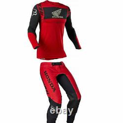 New 2021 Delicate FOX HONDA Dirt Bike Motocross Gear Set Motorbike Racing MX ATV