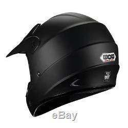 New Adult Motocross Helmet Motorcross MX BMX ATV Dirt Bike Matt Black S M L XL