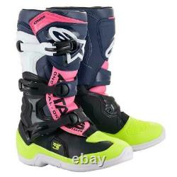 New Alpinestars Tech 3S Youth Boots Pink MX Motocross Off Road Dirt Bike ATV/UTV