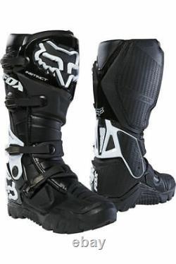 New Fox Racing Instinct X Motocross Boots Black Size 10 MX ATV Dirt Offroad