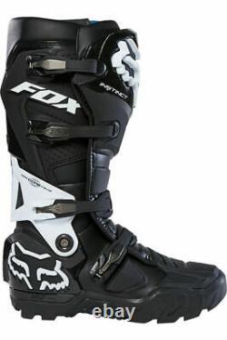 New Fox Racing Instinct X Motocross Boots Black Size 12 MX ATV Dirt Offroad