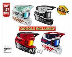 New Leatt Helmet Kit Moto 8.5 Goggle Included MX Off Road Dirt Bike ATV/UTV