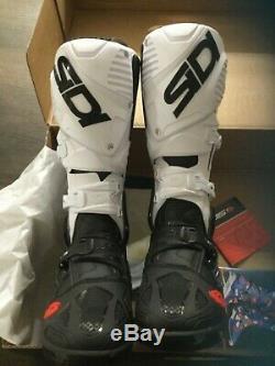 New Sidi Crossfire 3 Srs Motocross Boots Size 8.5 Eur 42 Off-road Atv Dirt Bike