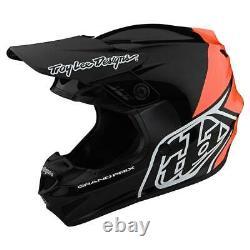 New TLD Youth GP Helmet, Motocross Helmet, Block Black / Orange, YM, Dirt Bike