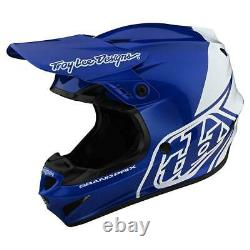 New Troy Lee Designs GP Motocross Helmet, MTB, Blue and White, Large, Dirt Bike