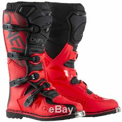 ONeal Element Red Boots motocross dirt bike off-road MX ATV riding boots