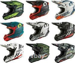 O'Neal 5 SRS Helmet MX Motocross Dirt Bike Off-Road MTB ATV Adult
